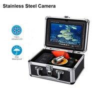 7 1000TVL Underwater Fishing Camera 12PCS IR LEDs Waterproof Fishfinder Stainless Steel CAM for Sea Ice Fishing DVR Optional