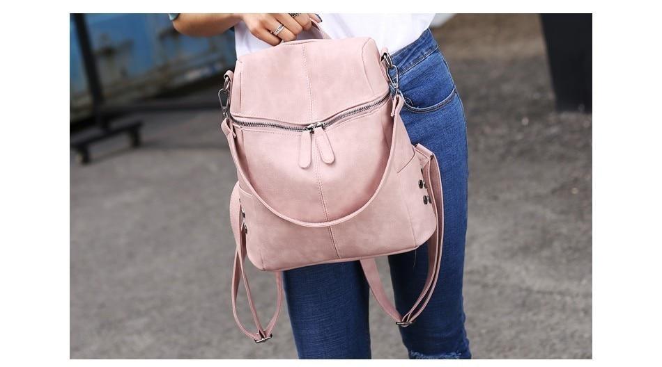 H51f08bcafad545c5ac5f50befa2111d5O Herald Fashion Women's PU Leather Backpack School Bags For Teenage Girls Large Capacity Backpack Laptop Bag Drop Shipping