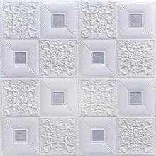 Pegatinas de pared 3D, papel tapiz autoadhesivo para techo, paneles decorativos de espuma para decoración del hogar, hogar, oficina, niños, decoración para sala de estar
