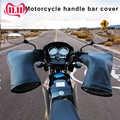 Inverno Termico Guanti Moto Manubrio con la Striscia Riflettente Antivento Impermeabile Caldo Moto Handle bar Copertura Della Mano Manicotti