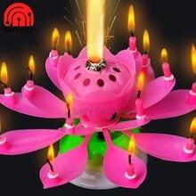 Cake Candle Decorative Flower Gift Lotus Wedding-Party-Decoration Romantic Birthday-Art