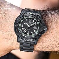 Herren Uhr Edelstahl Militär Uhr Leuchtenden Multifunktions Outdoor Uhr NATO Nylon Uhr Wasserdicht Tauchen Uhr