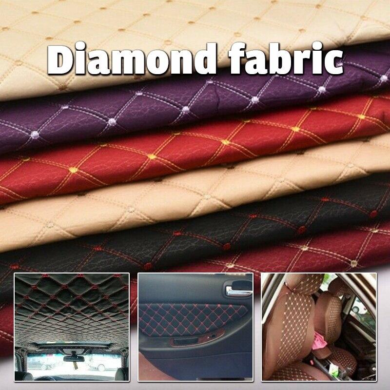 100*140 см вышитая клетчатая ткань Губка салона крыши автомобиля подушка для сидения Материал для стульчики для поделок Обивка диван-кровать