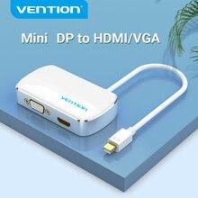 Vention Mini DisplayPort Converter to HDMI VGA Adapter 2 in 1 per Macbook Pro monitor TV Mini Display Port to HDMI VGA DP Cable