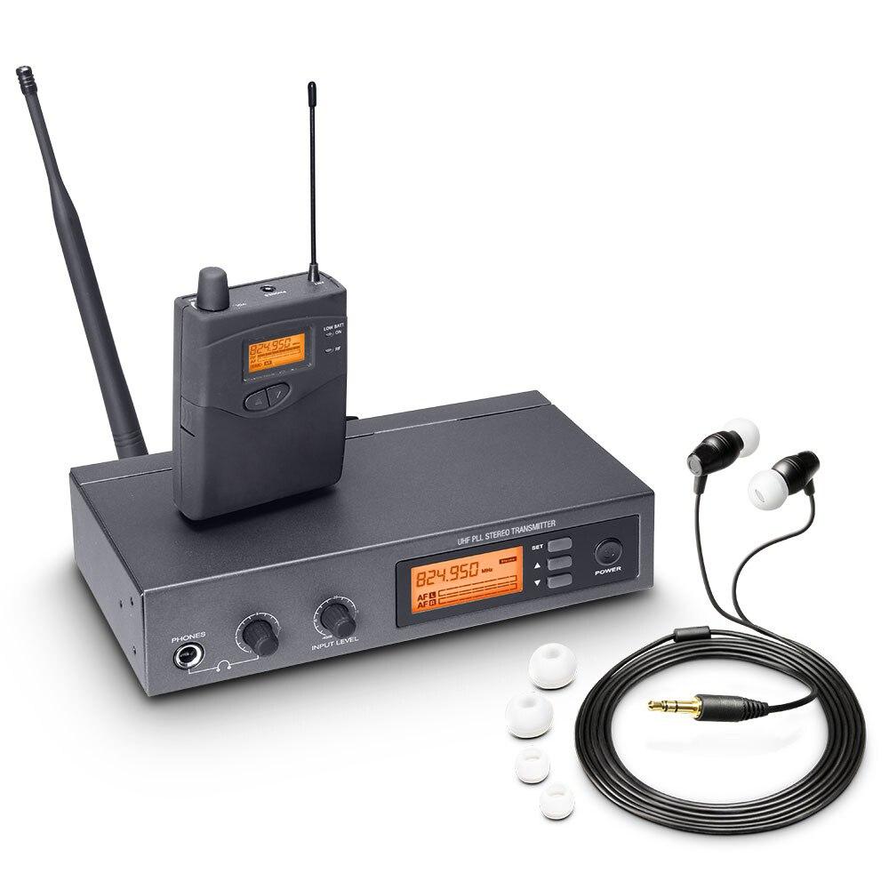 Pasgao PR90 стерео в ухо Монитор системы беспроводной монитор системы легкий и маленький размер 655-679 МГц