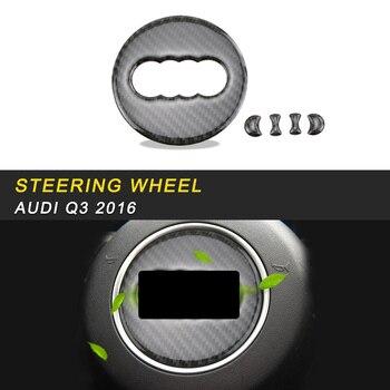 Car Styling Steering Wheel Panel Logo Cover Frame Trim Sticker Interior Accessories for Audi Q3 8U 2016 2017 2018