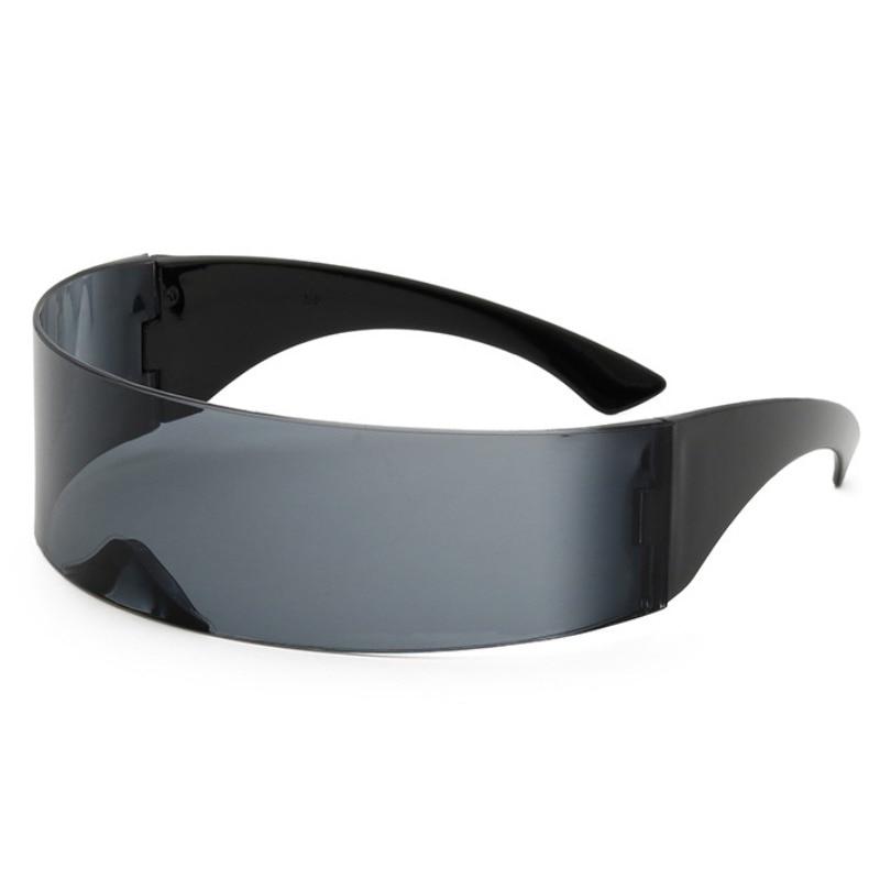 funny futuristic wrap around monob costume sunglasses mask novelty glasses DE