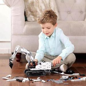 Image 5 - Xiaomi construcción de una excavadora para niños, Xiaomi, bloques de construcción, ingeniería, juguetes, excavación, maquinaria, bloques de construcción, juguete para regalo