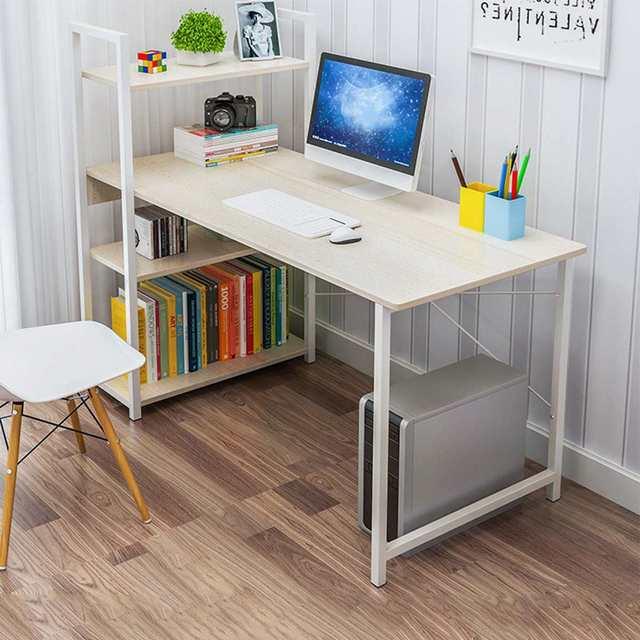 Computer Desk Table Study  w/ Bookshelf 1