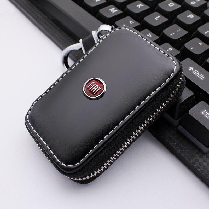 Кожаный кошелек для ключей, чехол для автомобильных ключей, Модный чехол для ключей для Fiat 500 500x ducato tipo panda bravo doblo stilo freemont