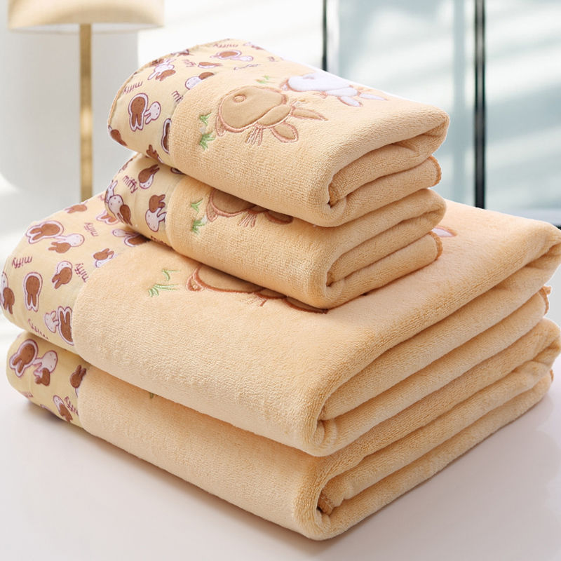 Large Bath Towel Three-piece Towel Adult Than Water-Absorbing Men And Women Thick Extra-large No. Set Men And Women Children