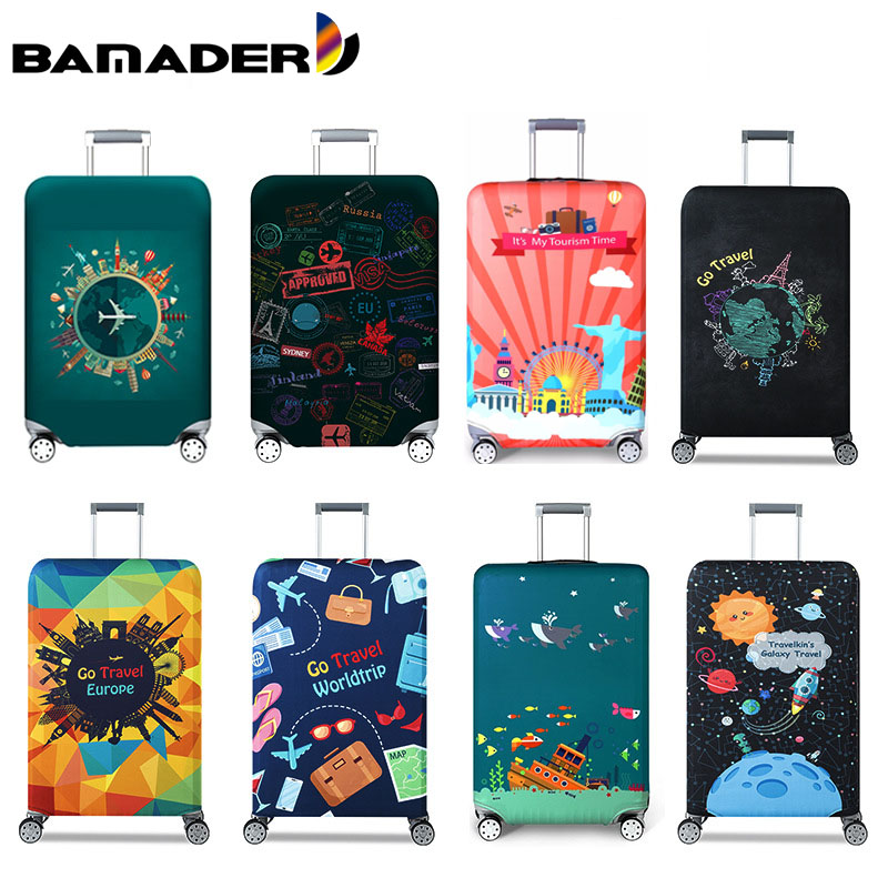 BAMADER Luggage Protective Cover Trolley Case Dust Cover Thicken Wear Resistant Travel Accessories Washable Suitcase Dust Cover image