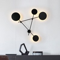 Modern LED Black Wall Lamps Simple Bedroom Bedside Lamp Deco Wall Lights Luminaire Indoor Wall Sconce Lighting Bar Cafe Fixtures