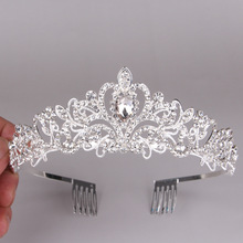 Headwear Crowns Tiara Wedding Hair-Accessories Bridal-Tiaras Crystal Woman And