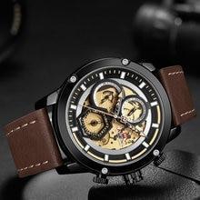 цена NAVIFORCE Military Sport Quartz Watch Men Leather Strap Waterproof Fashion Chronograph Clock Wrist Watches Man Relogio Masculino онлайн в 2017 году