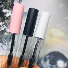 New 10ml Empty Mascara tube Clear revitalash Eyelash Bottle Frosted White,Pink lid Cosmetic packing container free shipping