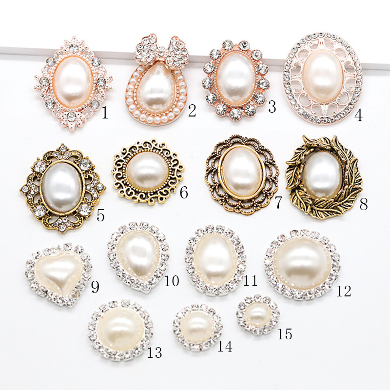 Hot A Variety Of Gorgeous Diamond Alloy Jewelry Accessories Flat Back Imitation Pearls Base Settings Wholesale Handmade Fitting