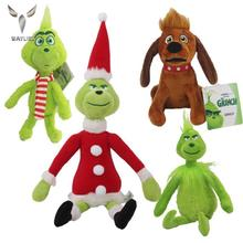 WAYLIKE 2021 New Year Christmas Geek Plush Doll Green Monster Doll Baby Gift Baby Toy