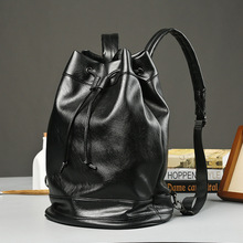 New style shoulder bag mens Korean version trend PU, Japanese and college studentsschoolbag fashion leisure travel