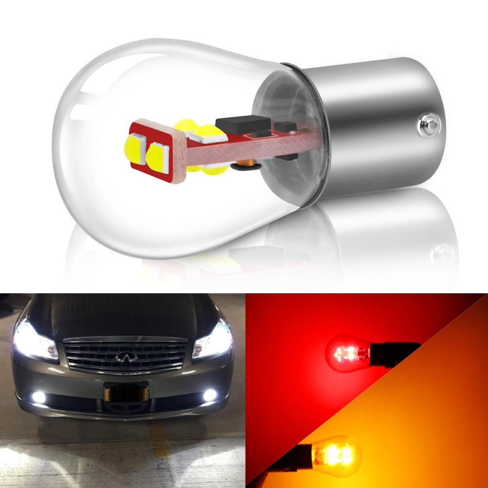 1pcs 1156 P21W BA15S 1157 P21/5W BAY15D Car Brake Light Auto Reverse Bulb BA15D BAU15S Parking Lamp 12V Turning Instructions Led