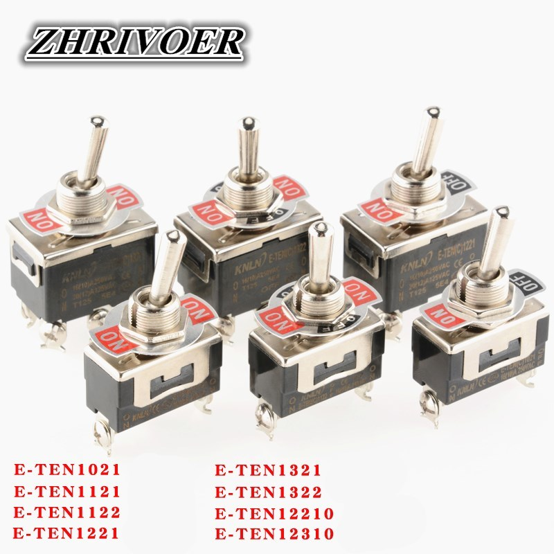 High-end Mini Auto Toggle Switch AC <font><b>250V</b></font> <font><b>16A</b></font> 2/3/4/6/<font><b>12</b></font> Pin ON-OFF ON-OFF-ON 2/3 Position Silver Contact with Waterproof Cap image