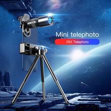 Монокулярный hd телескоп 25x с зумом объектив для смартфонов
