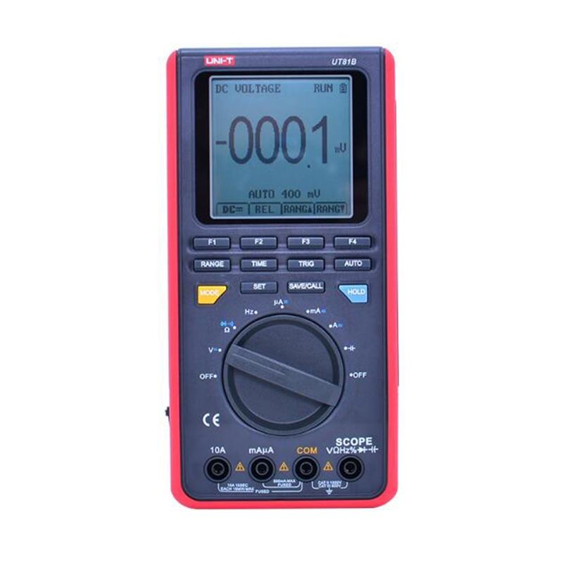 UNI-T UT81C/UT81B Digital Multimeters Mini Oscilloscope Input Diode AC DC Resistance Frequency Meter USB Interface PC Software.