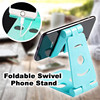Foldable Swivel Phone Stand Universal Adjustable Mobile Phone Holder For iPhone Huawei Xiaomi Plastic Phone Stand Desk Tablet