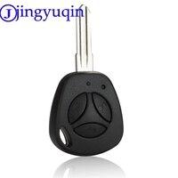 Jingyuqin 3 botões substituição da chave do carro escudo para lada uncut auto em branco remoto chave caso capa fob priora kalina|shell replacement|shell key|shell buttons -