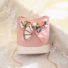 Scarf Girl Messenger Bag Sweet Lady Bucket Woman Famous Luxury Brand Fashion Ladies Bags 2019 Shoulder