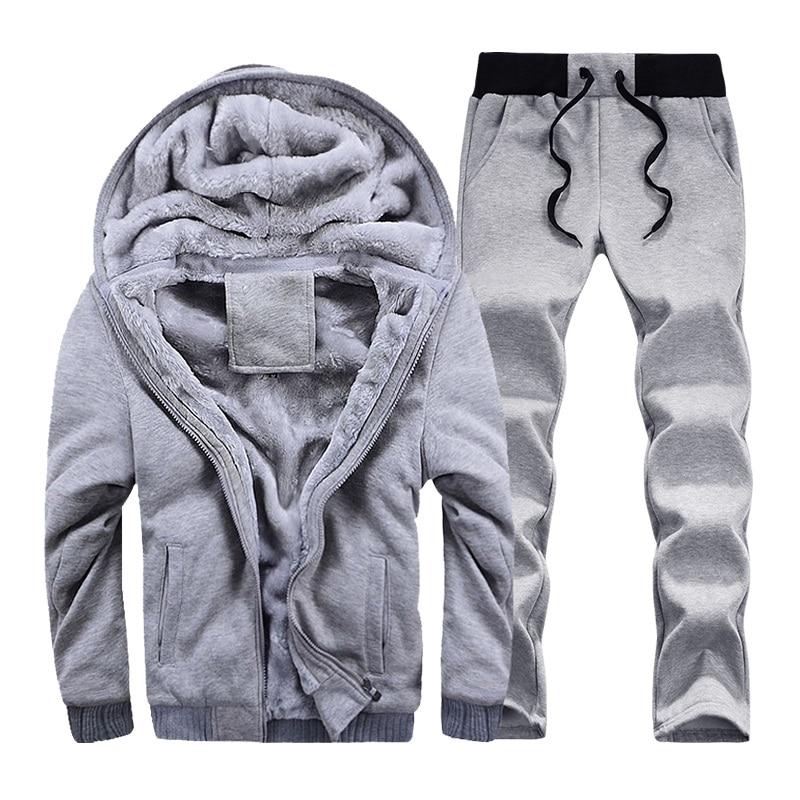 sweat /à capuche et pantalon de jogging coupe ajust/ée Fabrica Fashion Ensemble surv/êtement pour homme en polaire unie