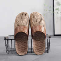 Suihyung Neue Männer Sommer Schuhe Hausschuhe Flachs Weben Atmungs Nicht-slip Männlichen Sandalen Strand Flip-Flops Mann Hausschuhe rutschen