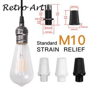 Image 4 - Abrazadera de Cable de lámpara, Cable de metal, alivio de tensión, agarre de Cable roscado