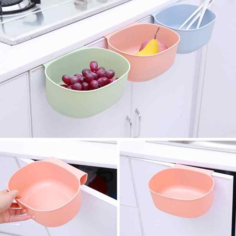 Kunststoff Küche Abfall Bin Schrank Tür Hängen Große Mülleimer Lagerung Box Kreative Haushalt Hängen Mülleimer