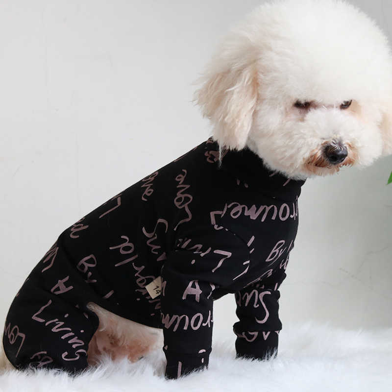 Pet Dog Jumpsuit 100%Cotton Overalls Four Feet Puppy Clothes For Small Dogs Pajamas Long Sleeve Sweatshirt Chihuahua Poodle Pug