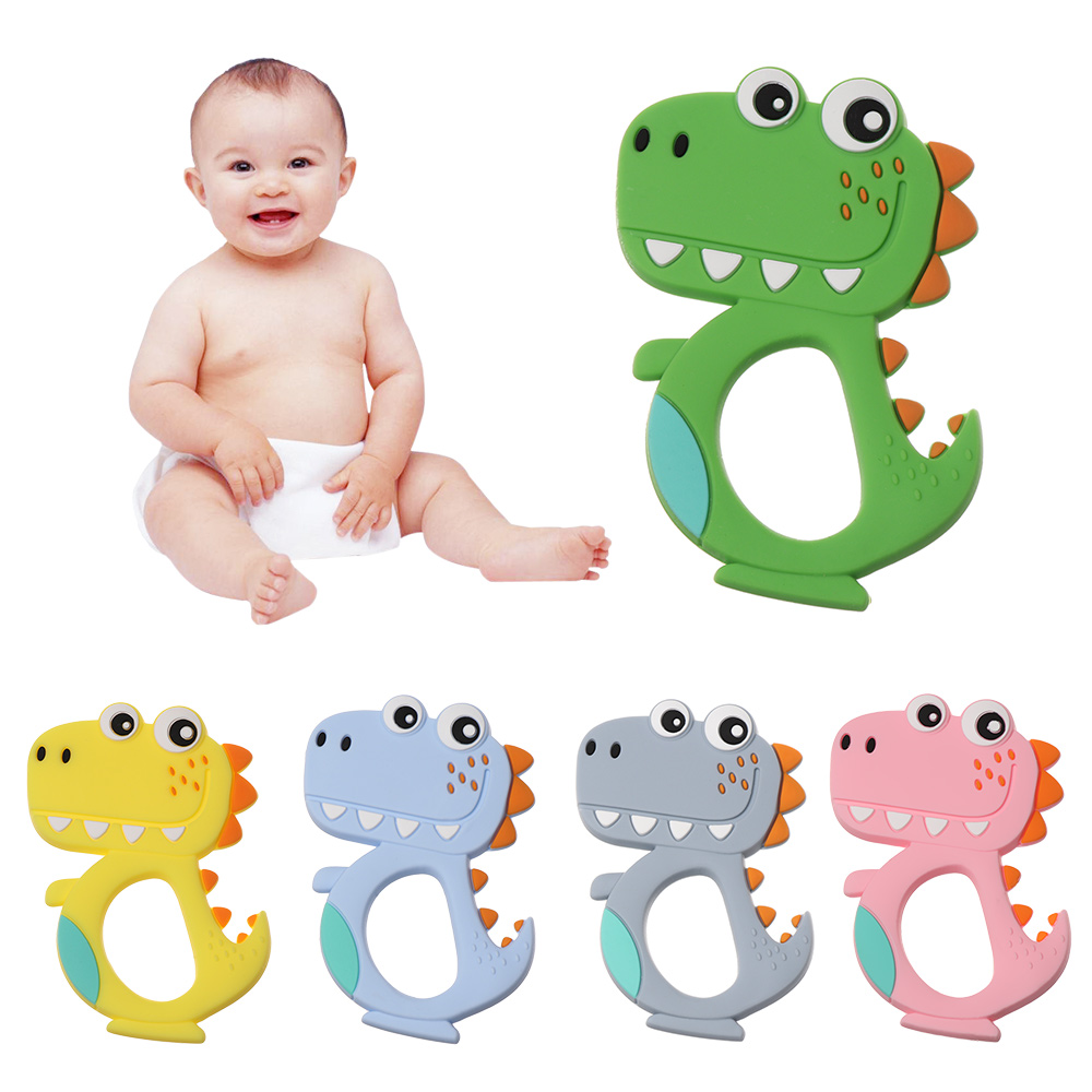 Food Grade Chewable Baby Teethers Teething Toys Molars Silicone Kids Soother