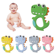 1PC Baby Dinosaur Shape Molars Silicone Teethers Kids Food Grade Chewable Soother Infants Cute Cartoon Teething Toys(China)