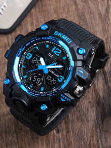 SKMEI Digital Clock Wristwatches Military Men Camouflage New-Fashion Quartz LED Sport