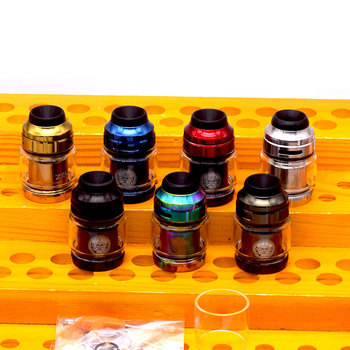 SUB TWO Zeus X RTA vape tank 3.5ml 4.5ml tank capacity with 810 528 Delrin drip tip Electronic cigarette atomizer for Vape mod 25mm zeus x rta 3 5ml 4 5ml tank rba gta electronic cigarette mods vape tank rta 22mm 24mm vaper atomizer for vape mod