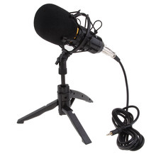BM800 Plug and Play Condenser Microphone, Home Studio Recording Broadcasting Interview Karaoke with Tripod Stand Filter Shield(China)