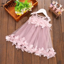 ZAFILLE Baby Girls Dress Summer New Girls Clothing Lace Mesh Toddler Infant Dress Sleeveless Girls Clothes Baby Princess Dress menoea girls dress 2016 new summer style baby girls dresses sleeveless lace cartoon cat printing for princess dress 1 6year
