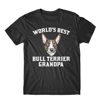World's Best Bull Terrier Grandpa Dog Graphic T-Shirt
