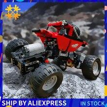 Bloques de construcción en miniatura de coche todoterreno teledirigido para niños, juguete deportivo de bloques de construcción en miniatura, modelo Monsters Bigfoot Truck, SUV, 2,4G