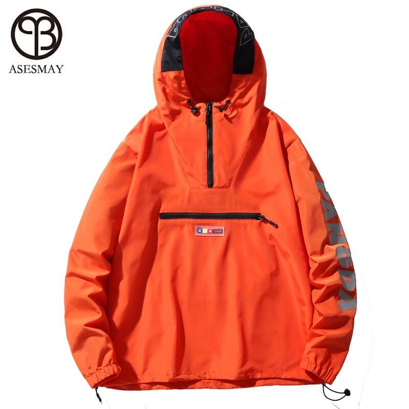 Asesmay куртка с капюшоном Для мужчин новинка в стиле пэтчворк и КолорБлок, пуловер, куртка, модный тренировочный костюм пальто Для мужчин в сти... - 3