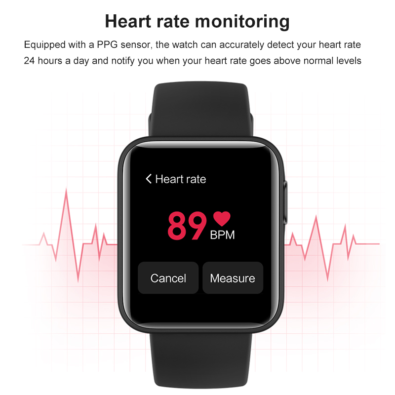 Xiaomi Mi Watch Lite Bluetooth Smart Watch GPS 5ATM Waterproof SmartWatch Fitness Heart Rate Monitor mi