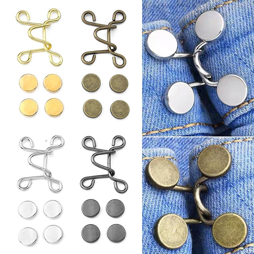 27/32mm Snap Fastener Metal Nail-Free Waist Extender Pants Buckle Button for Clothing Jeans Fit Tightness Adjust Button