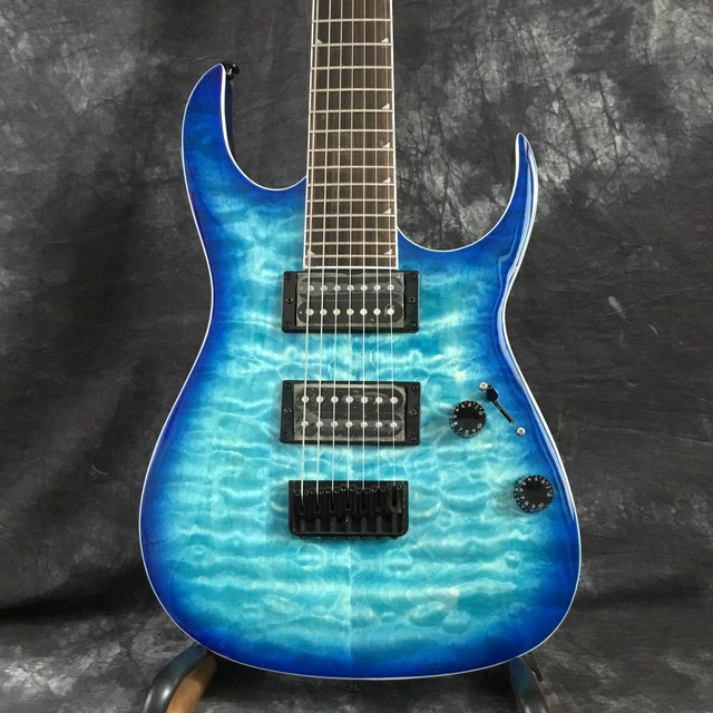 Beautiful POD-Sky7-  7-string electric guitar blue 3