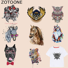 ZOTOONE Horse Owl Patch Zebra Cat Dog Stickers Iron on Patches for Clothing T-shirt Heat Transfer Diy Accessory Appliques G(China)