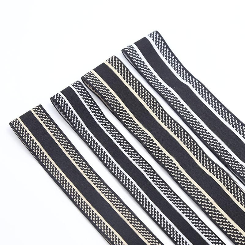 Jacquard letter Elastic Band Garment Trousers Sewing Accessories DIY Elastic Rubber Elastic Webbing