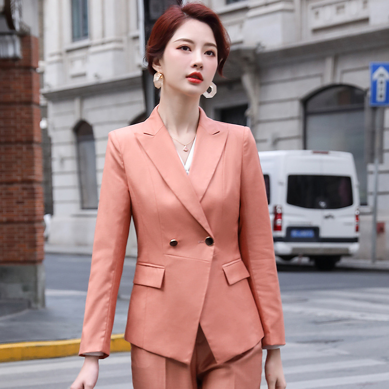 2020 new autumn and winter women's high quality office pants suit two-piece Fashion elegant lady jacket professional overalls